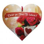 "Tablou cu mesaj si trandafiri ""Doar pe Tine Te iubesc!"""