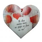 "Tablou in forma de inima cu mesaj ""Iti dau Inima mea!"""
