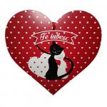 Tablou din lemn pentru persoana iubita, Valentine's Day, Te iubesc!